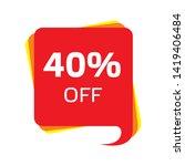 discount price sale bubble... | Shutterstock .eps vector #1419406484