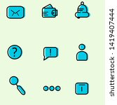 trendy flat line icon pack for...