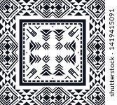 geometric ethnic pattern... | Shutterstock .eps vector #1419415091