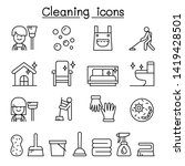 cleaning house   hygiene icon... | Shutterstock .eps vector #1419428501