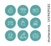 vector set design colorful... | Shutterstock .eps vector #1419439181