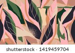 modern exotic jungle plants... | Shutterstock .eps vector #1419459704
