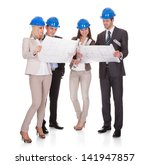 group of architect discussing... | Shutterstock . vector #141947857