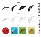 vector design of revolver and... | Shutterstock .eps vector #1419492164
