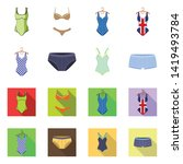 isolated object of bikini and...   Shutterstock .eps vector #1419493784