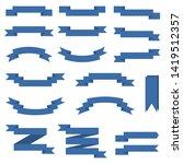 set of blue ribbon banners ... | Shutterstock . vector #1419512357