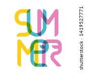 summer original typography.... | Shutterstock .eps vector #1419527771