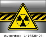 warning  danger background with ... | Shutterstock .eps vector #1419528404