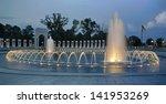 World War Ii Memorial Fountain...