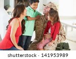 family greeting military father ... | Shutterstock . vector #141953989