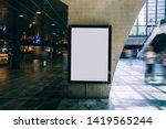 clear billboard in public place ... | Shutterstock . vector #1419565244