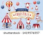 vintage santa claus christmas... | Shutterstock .eps vector #1419576557