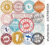 manama bahrain set of stamps.... | Shutterstock .eps vector #1419584504