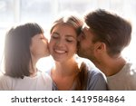 loving dad and little... | Shutterstock . vector #1419584864