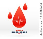 world blood donor day blood... | Shutterstock .eps vector #1419607634