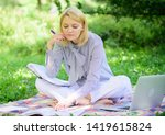 become successful freelancer.... | Shutterstock . vector #1419615824