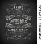 chalk  typography  calligraphic ...   Shutterstock .eps vector #141961651