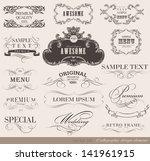 calligraphic design elements... | Shutterstock .eps vector #141961915