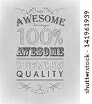typography  calligraphic design ...   Shutterstock .eps vector #141961939