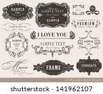 calligraphic design elements...   Shutterstock .eps vector #141962107