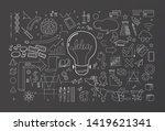 creative thinking idea spread... | Shutterstock .eps vector #1419621341