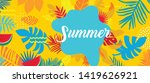 summer card template  travel... | Shutterstock .eps vector #1419626921