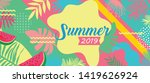 summer card template  travel... | Shutterstock .eps vector #1419626924