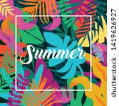 summer card template  travel... | Shutterstock .eps vector #1419626927