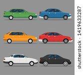 car icon vector logo template.... | Shutterstock .eps vector #1419633287