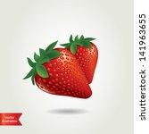 strawberry isolated.vector... | Shutterstock .eps vector #141963655