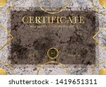 certificate template with...   Shutterstock . vector #1419651311