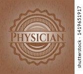 physician wood emblem. retro....   Shutterstock .eps vector #1419651917