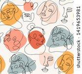 modern abstract faces.... | Shutterstock .eps vector #1419653981