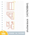 copy the picture  educational... | Shutterstock .eps vector #1419658841