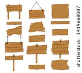 signboard creation set. build...   Shutterstock .eps vector #1419668087