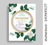 wedding invitation template.... | Shutterstock .eps vector #1419695177