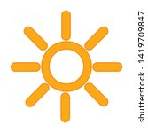 weather icon. flat illustration ... | Shutterstock .eps vector #1419709847
