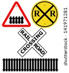 railway intersection signs  ...