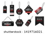 black friday tag. set of tags... | Shutterstock .eps vector #1419716021