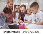 mature male teacher enjoying...   Shutterstock . vector #1419720521