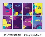 set of card  brochure  annual... | Shutterstock .eps vector #1419726524