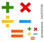 modern  happy mathematical...   Shutterstock .eps vector #141972739