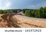 construction of the embankment... | Shutterstock . vector #141972925