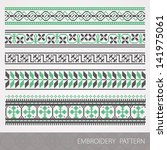 collection of embroidery... | Shutterstock .eps vector #141975061