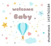 Kids Poster Text Welcome Baby...