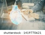 heart drawing with man working... | Shutterstock . vector #1419770621