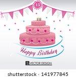 happy birthday over white... | Shutterstock .eps vector #141977845