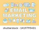 email marketing word concepts... | Shutterstock .eps vector #1419795431