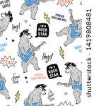 cool rock star bear playing... | Shutterstock .eps vector #1419808481