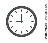 time clock dial vector icon... | Shutterstock .eps vector #1419811421